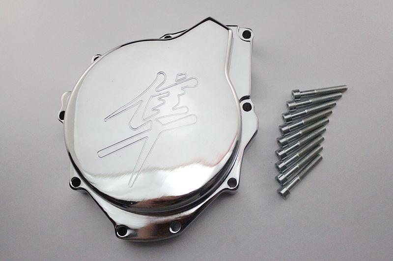 Chrome Motor Estator Capa Para Suzuki GSX1300R Hayabusa para 1999 2000 2001 2002 2003(China (Mainland))