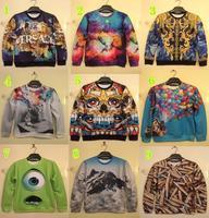 Winter hoodies women brand harajuku punk 3d cartoon sweatshirts for couple streetwear casual meleton free shipping Nora05384