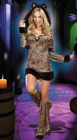 women sexy cat leopard animal costumes,sexy cat leopard costume