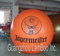 Top Selling 2 meters Orange Inflatable Advertising Helium Balloon with your BIG Logo/DHL Free Shipping