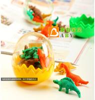 Dinosaur Egg Pencil Eraser 2014 New School Season Eraser School Supplies 2 lot animal eraser free shipping
