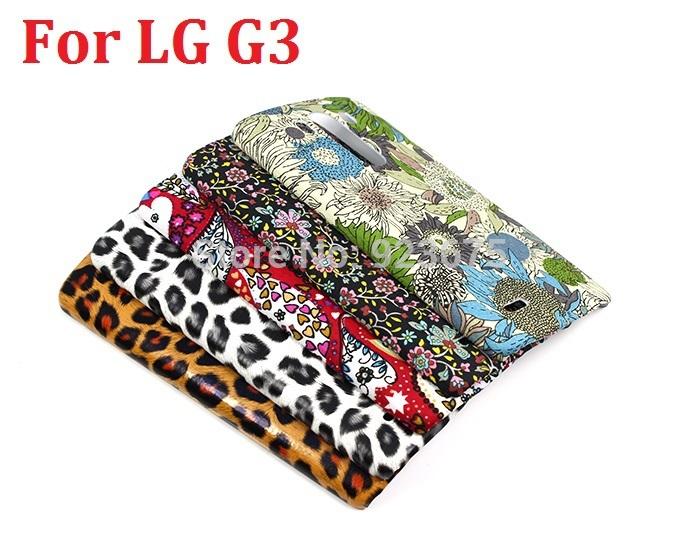 50PCS/Lot DHL Free Hard Case for LG Google G3 Fashion Pattern PC Case Back Cover for LG G3(China (Mainland))