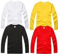 2014 New Fashion High Quality Autumn Men Pure Color Cotton O-neck T-shirt ombie Mencausal Sweatshirt Women's Free Shipping #50rr