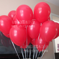 NEO 10'' Standard Color Latex Helium Balloon (Red: Pack of 100)