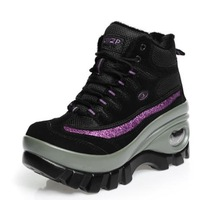 Autumn and wintershoes high help waterproof  Outdoor shoes women cotton shoes and wool