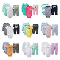 BCS111 Free shipping new 2014 carters clothing sets baby clothing carters baby girl & boy 3 pieces bodysuits baby rompers retail