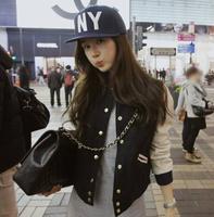 Free Size New 2014 fashion Autumn Korean Women short jacket Slim Baseball uniform jackets women Free Shipping