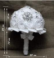 valentine's day gift Gorgeous handmade white rose diamond  Luxurious wedding bouquets bride bouquet wedding accessories