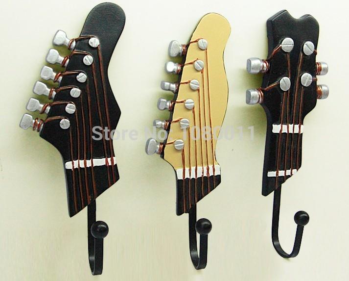 The Music Home Decoration Creative Fashion Wall Art Decor Hook Hanger Set(China (Mainland))