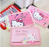 House mat Hello Kitty cartoon mat girls star doormat kids circular carpet pink bird mats