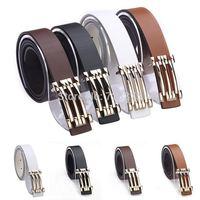 2014 South Korea new fashion brand Men High quality joker belts,Men's Lady 100% PU belts+Metal belts buckle womens Free shipping