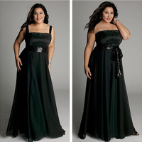 Detachable straps black vestidos de fiesta longo plus size important party dress prom gowns evening dress 2014 FSL-291