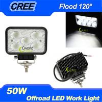 50W 5.7 inch CREE LED Work Light Bar Tractor 4x4 Offroad Flood beam ATV LED Work Light External Light Led Driving Lamp