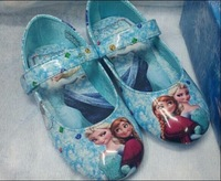 Wholesale Frozen Girls Shoes 2014 Popular Frozen Anna and Elsa Shoes Flat Shoes Children Princess Shoes 6pairs/lot