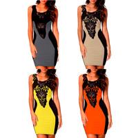 Women'S Evening Elegant Lace Black Formal Plus Size Club Dresses Sweetheart Sleeveless Mini Prom Dresses Body-Con