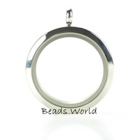 Free Shipping 1 Pcs Stainless Steel Origami Owl Round Glass Twist  Living Memory Locket With Face 30mm(W03899 X 1)