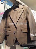 black children boy Wedding suits Formal Party Tuxedo suit Groom Jacket+Pants+bow tie/necktie+vest+Dress shirt 5 pcs set#8026