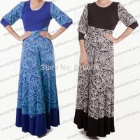 2014 New Designer Muslim Abaya Dubai Abaya Dress Muslim long sleeve dress  Gown Free Size MU10025