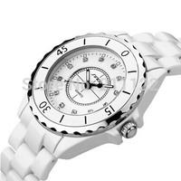 SINOBI Women Dress Watches New Ceramic watch Enamel Temperament Casual watches Fashion Elegant Analog Crystal hour