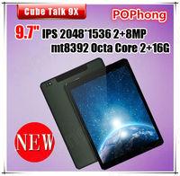 Cube talk 9x u65gt Octa Core MTK8392 3G Tablet PC 9.7inch Retina 2048x1536 16GB ROM Android 4.4 WCDMA GPS 10000mAh