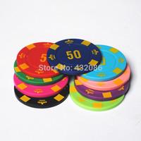 4gPlastic poker chips 3.5mm thick free shioping fashion gambling tools