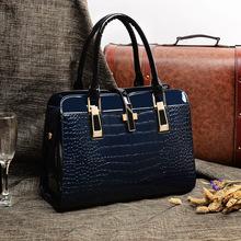 Latest trend 2014 extraordinary luxury patent women leather bag women handbags women shoulder bags women bags(China (Mainland))