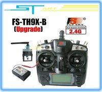 Free Shipping 2.4G 9ch system Flysky FS rc radio Transmitter & Receiver Combo  9ch remtoe control FS-TH9X TH9XB TX + RX kids toy