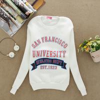 2014 fashion women's new sport package of sweater pullover fleece sweatshirt flocking 4 color Hot Women cotton hoodies