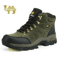 Free Shipping 2014 Genuine leather Outdoor Shoes Men Waterproof Antiskid Hiking Shoes Men's Shoes,Climbing Shoes