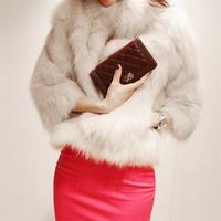Free shipping NEW Winter Warm Korean Fashion Luxury Quality Overcoats Women's faux Fur Coatsjacket Outerwear wholesale