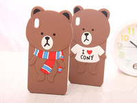 Free shipping  New Cute Cartoon Brown Bears Soft Silicone Back Covers Case For HTC Desire 816 Soft Cell Phone  Protective Shell