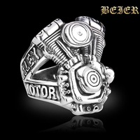 2014 Men's Brand Rings Free Shipping 316L Stainless Steel Punk Man Biker Ring Jewelry Free Shipping TG591 US size