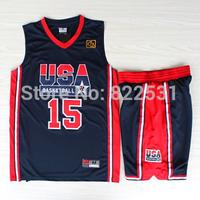 Earvin Johnson 1992 Dream Team Jersey, 1992 USA Dream Team 15 Magic Earvin Johnson Basketball Jersey and Short