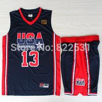 Chris Mullin 1992 Dream Team Jersey, 1992 USA Dream Team 13 Chris Mullin Basketball Jersey and Short