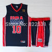 Clyde Drexler 1992 Dream Team Jersey, 1992 USA Dream Team 10 Clyde Drexler Basketball Jersey and Short