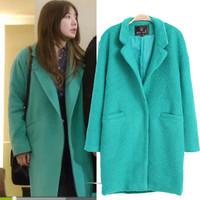 2014 promotion full women coat cardigans dress yun eun hea the new female winter coat woolen lapel self-cultivation wool jacket