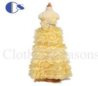 Baby Girls Toddler Girls Gowns Infantil Flower Girls Dresses For Weddings Girls Pageant Dresses 2014 Vestido De Festa