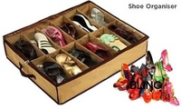 3pcs/lot 12 Shoes Organizer Storage Box With Transparent Cover Good Quality Hot Selling Free Shipping Only $9.99
