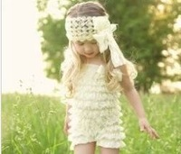 baby girl's Headband Large Bow headwear Princess Lace  headdress Butterfly hair accessories whole sale  new come