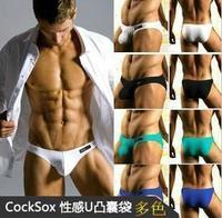 Cock panties low-waist trigonometric panties male u bag male 100% week cotton panties