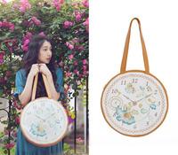 2014 NEW KATH KATHERINE Original Vintage Lolita Forest Clock Round Shoulder Bag Handbag Satchel School Bag Tote Messenger