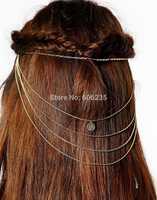 Fashion Accessories Gold Chain Bohemia Comb Insert Hair Accessory