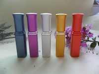 2014 New design beautiful shape 6ml aluminum perfume atomizer 6 colors for you to choose 2pcs/lot