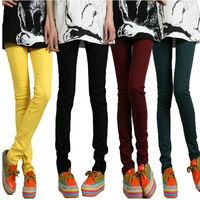 Hitz Korean elastic thin Slim small pencil pants 310G
