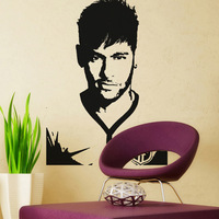 Wholesale Free shipping Wall stickers Home Decor  PVC Vinyl paster Removable Art Mural Football  soccer star  Z-0222
