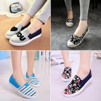 2014 canvas shoes women flat shoes fashion girls sneaker 35-40 Free shipping