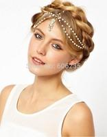 Fashion Accessories Bohemia Imitation Pearl Gem Hair Jewelry Band Princess Style