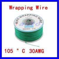 Free shipping!Wholesale PCB Solder Green Flexible 0.25mm Dia Copper Wire 30AWG Wrapping Wrap 1000Ft