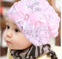G016 Bud silk flowers 2014 baby girl baby hat New princess sleeve head cap pile of pile cap