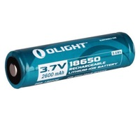 Olight Protected 2600mAh 18650 Rechargeable Battery for M22 M20S M18 M20X etc